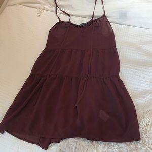 Maroon Kendall & Kylie Pacsun Mini Dress
